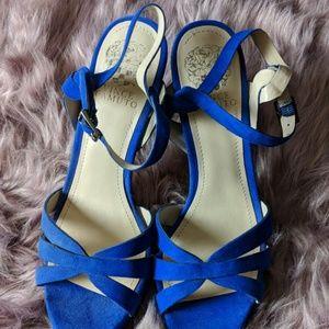 Royal blue Vince camuto heels size 8